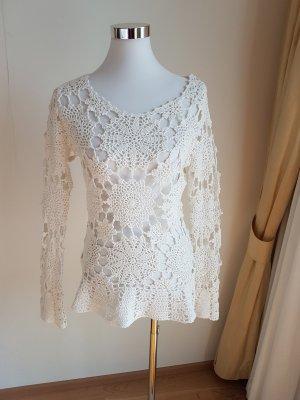 *aller letzter Preis * Original Cassis Collection Häckel Pullover aus 100 % Baumwolle