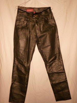 Allerletzte Reduzierung! Lederhose, Bootcut, in schwarz Gr. 40