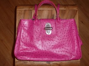 Carry Bag magenta leather