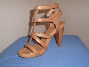 Allerletzte Reduzierung! Marc O´ Polo- edle High Heel- Sandalen, beige, Gr. 40 - wie neu!