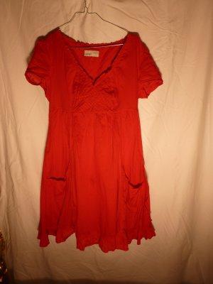 Allerletzte Reduzierung! Rotes Kleid aus angenehmer Baumwolle der Marke Esprit