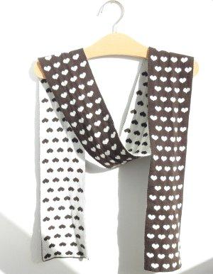 Gebreide sjaal veelkleurig Gemengd weefsel