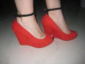 Alles muss raus!!! %%% Schuhe, Plateauschuhe, Plateou Peep Toes, Pumps von Zara