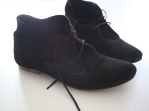Cox Zapatos brogue negro Gamuza