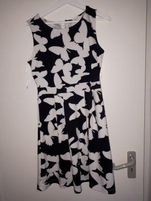 Bodyflirt Vestido elástico blanco-negro