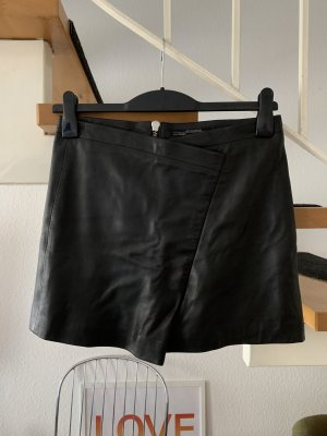 All Saints Leren rok zwart Leer