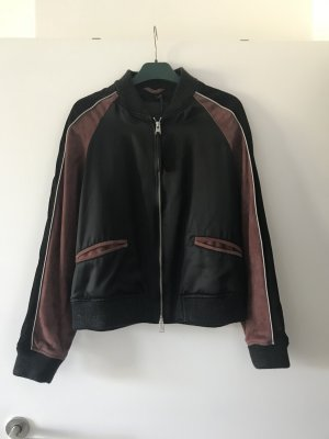 All Saints Leather Jacket black-brown red