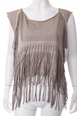 AllSaints Cropped Top beige Hippie-Look