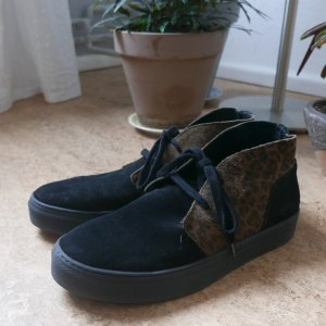 All Saints Desert Boots black-dark brown leather