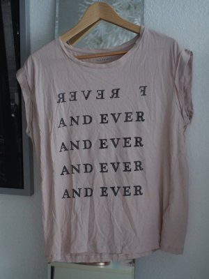 Allsaints Forever Statement T-Shirt in rosa