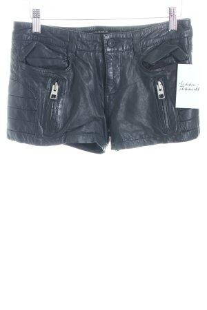 AllSaints Lederhose schwarz Biker-Look