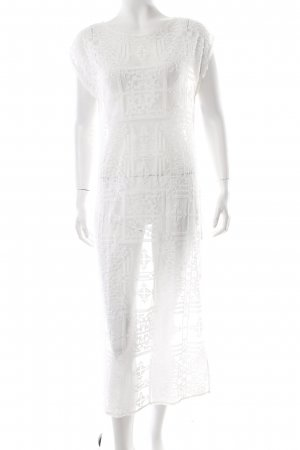 AllSaints Maxi-jurk wit Net-look