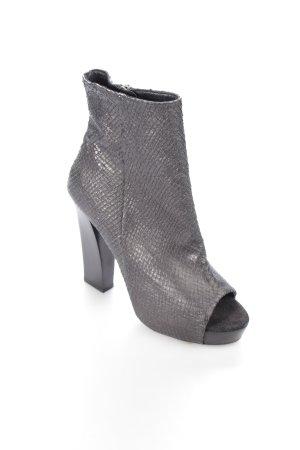 AllSaints Peeptoe-Stiefeletten schwarz extravaganter Stil
