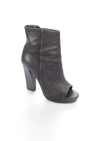 AllSaints Peeptoe-Stiefeletten schwarz klassischer Stil