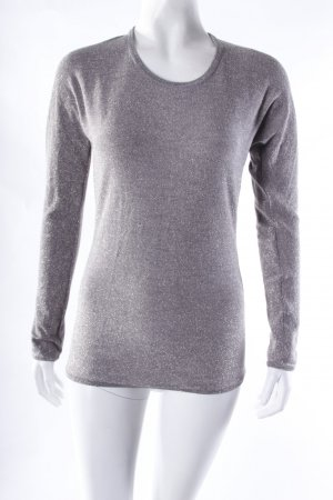 All Saints Jersey de cuello redondo gris-color plata