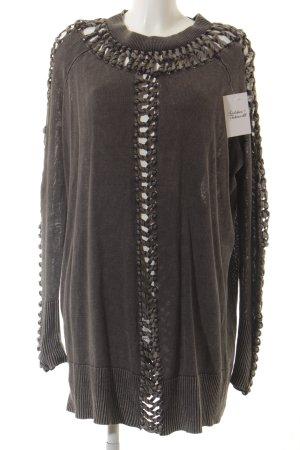 AllSaints Pulloverkleid grau Casual-Look