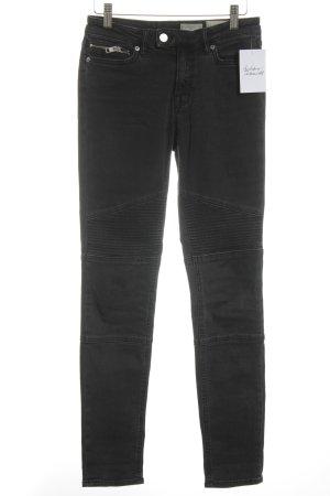 AllSaints Tube jeans zwart straat-mode uitstraling