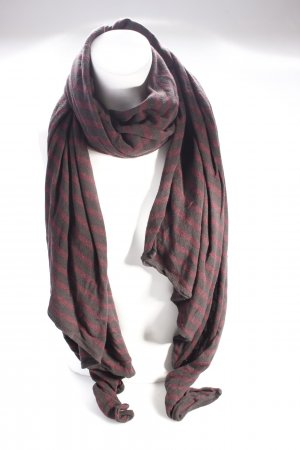 AllSaints Écharpe en laine noir-bordeau
