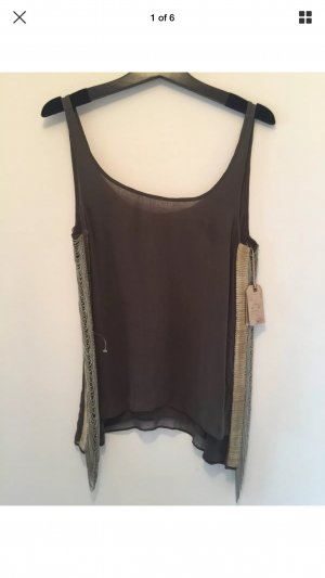 All Saints Top long vert foncé