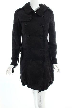 AllSaints Trenchcoat schwarz schlichter Stil
