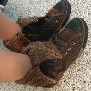 Converse Basket à lacet brun-brun foncé