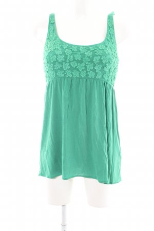 Allude A Line Top green flower pattern casual look