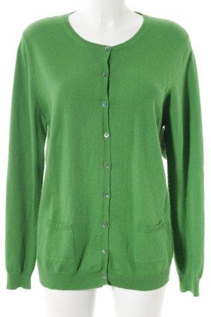 Allude Cardigan grasgrün schlichter Stil