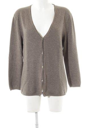 Allude Cardigan marrone-grigio puntinato stile casual