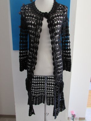 Allude Cardigan all'uncinetto nero