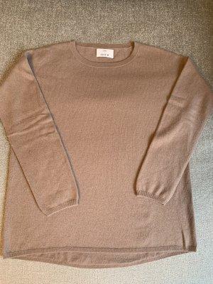 Allude Pullover in cashmere marrone chiaro-color oro rosa