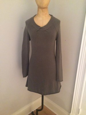Allude Knitted Dress grey brown cashmere