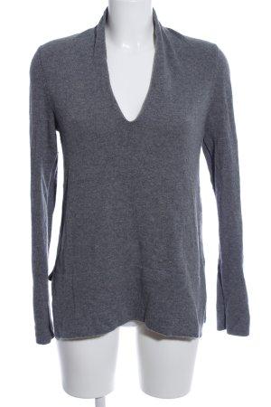 Allude Pullover in cashmere grigio chiaro stile casual