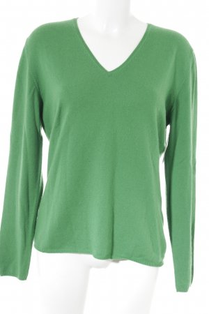 Allude Cashmere Jumper green casual look