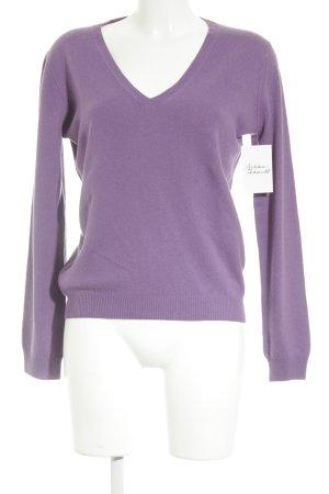 Allude Pullover in cashmere lilla stile casual