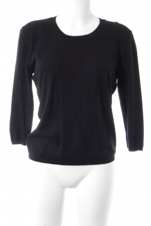 Allude Cashmerepullover schwarz Casual-Look