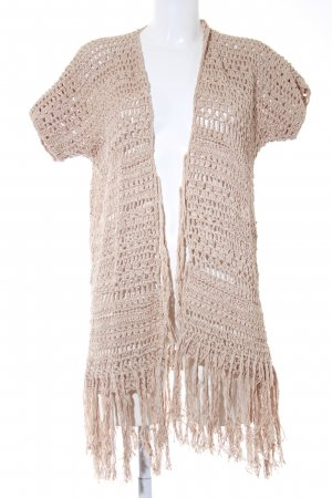Allude Coarse Knitted Jacket camel hippie style