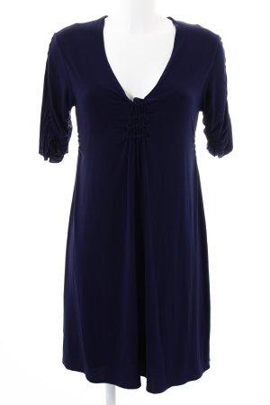 Allude Jerseykleid blau-schwarz Casual-Look