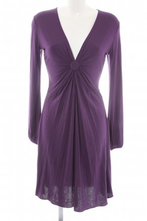Allude Jerseykleid dunkelviolett Elegant