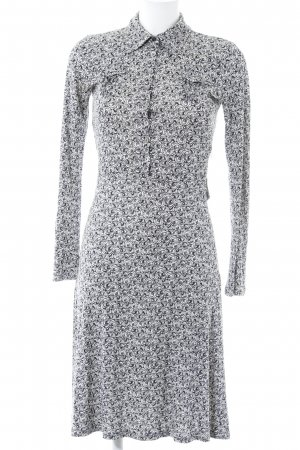 Allude Jerseykleid hellbeige-schwarz abstraktes Muster Casual-Look