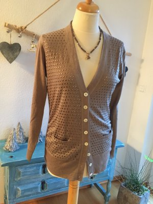Allude Knitted Cardigan beige
