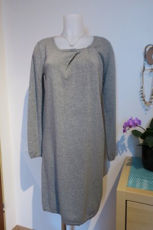 Allude Sweater Dress silver-colored-grey cashmere