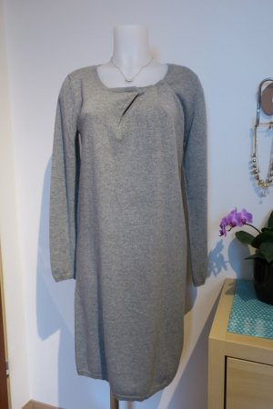 Allude Knitted Dress silver-colored-grey cashmere