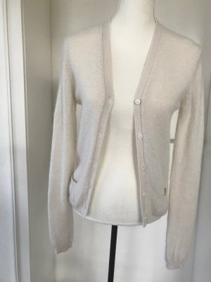 Allude Knitted Cardigan natural white cashmere