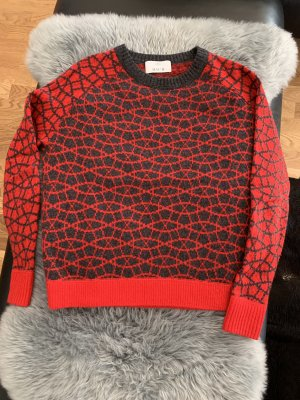 Allude Pullover in cashmere antracite-rosso