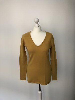 Allude Knitted Sweater yellow cashmere
