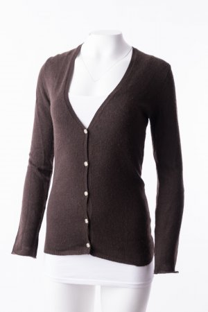 Allude Knitted Cardigan dark brown