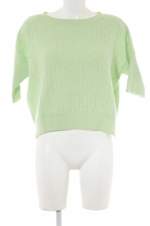 Allude Short Sleeve Sweater lime-green casual look