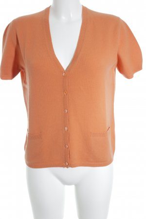 Allude Short Sleeve Knitted Jacket orange classic style