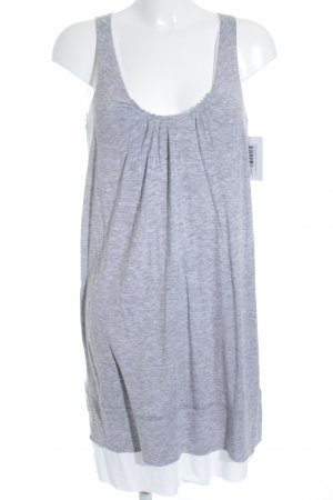 Allude Top long gris clair-blanc moucheté style simple