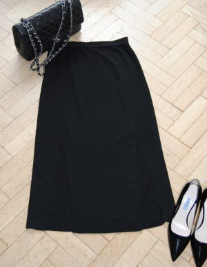 Allude Midi Skirt black merino wool